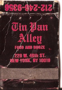 tin pan alley nan golding